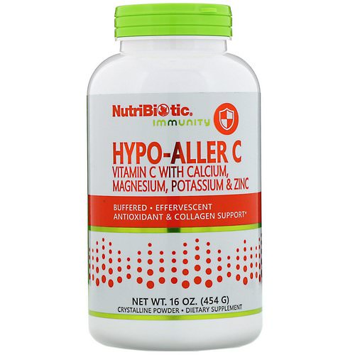 NutriBiotic, Immunity, Hypo-Aller C Vitamin C with Calcium, Magnesium, Potassium & Zinc, 16 oz (454 g) Review