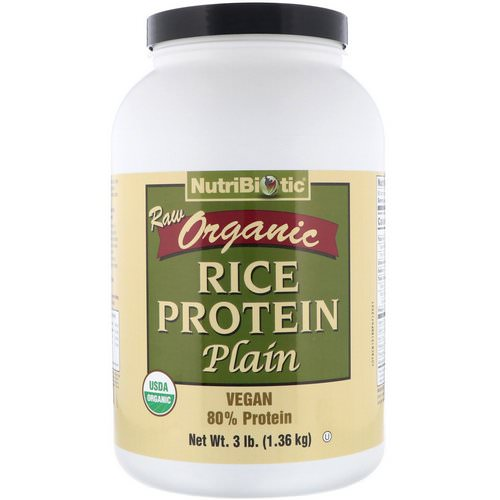 NutriBiotic, Raw Organic Rice Protein, Plain, 3 lbs (1.36 kg) Review