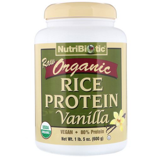 NutriBiotic, Raw Organic Rice Protein, Vanilla, 1.3 lbs (600 g) Review