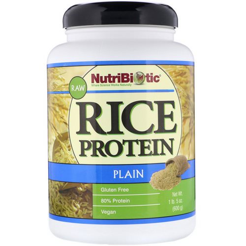 NutriBiotic, Raw Rice Protein, Plain, 1 lb. 5 oz (600 g) Review