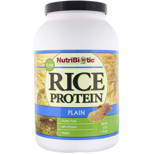 NutriBiotic, Raw, Rice Protein, Plain, 3 lbs (1.36 kg) Review