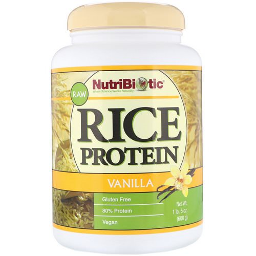 NutriBiotic, Raw Rice Protein, Vanilla, 1 lb 5 oz (600 g) Review