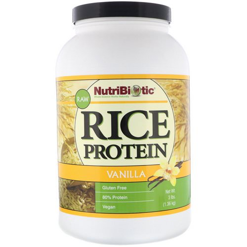 NutriBiotic, Raw Rice Protein, Vanilla, 3 lb (1.36 kg) Review