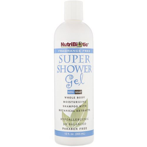 NutriBiotic, Super Shower Gel, Non-Soap, Fragrance Free, 12 fl oz (355 ml) Review