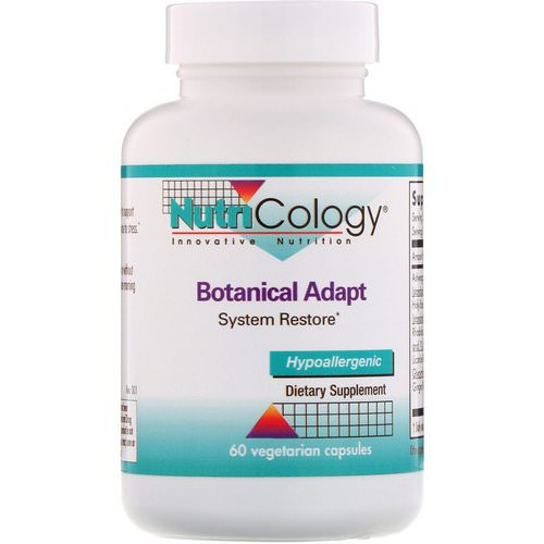 Nutricology, Botanical Adapt, System Restore, 60 Vegetarian Capsules Review