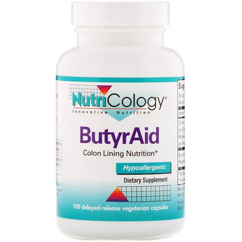 Nutricology, ButyrAid, 100 Delayed-Release Vegetarian Capsules Review
