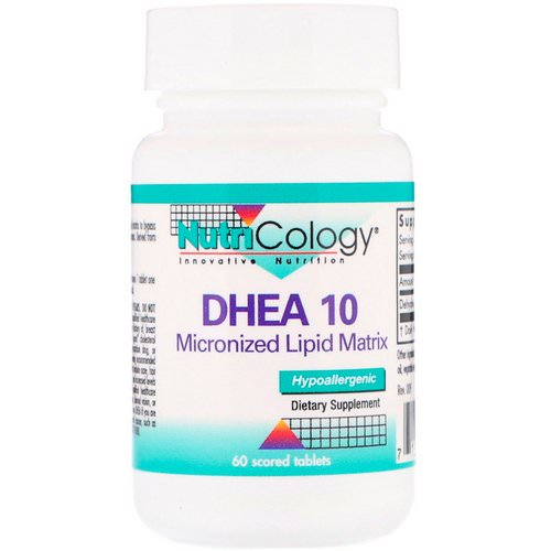 Nutricology, DHEA 10, Micronized Lipid Matrix, 60 Scored Tablets Review