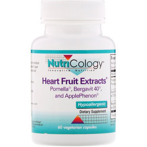 Nutricology, Heart Fruit Extracts, 60 Vegetarian Capsules Review