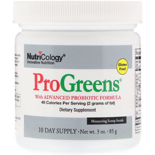 Nutricology, ProGreens, With Advanced Probiotic Formula, 3 oz (85 g) Review