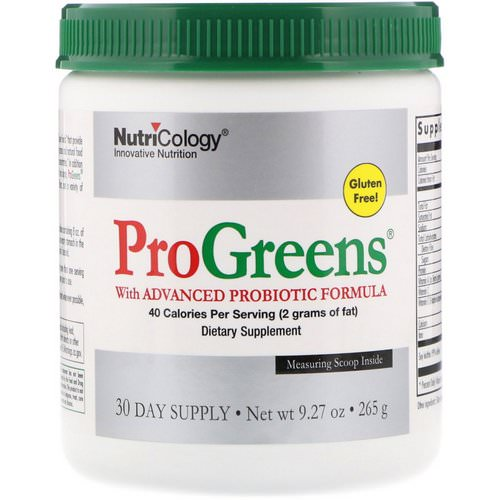 Nutricology, ProGreens, with Advanced Probiotic Formula, 9.27 oz (265 g) Review