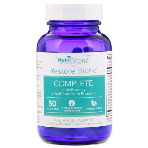 Nutricology, Restore-Biotic Complete, 60 Delayed-Release Vegetarian Capsules Review