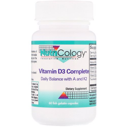 Nutricology, Vitamin D3 Complete, 60 Fish Gelatin Capsules Review
