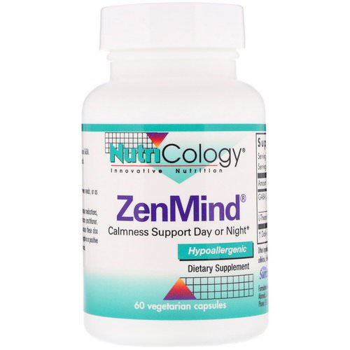 Nutricology, ZenMind, 60 Vegetarian Capsules Review