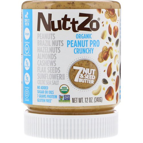 Nuttzo, Organic, Peanut Pro, 7 Nut & Seed Butter, Crunchy, 12 oz (340 g) Review