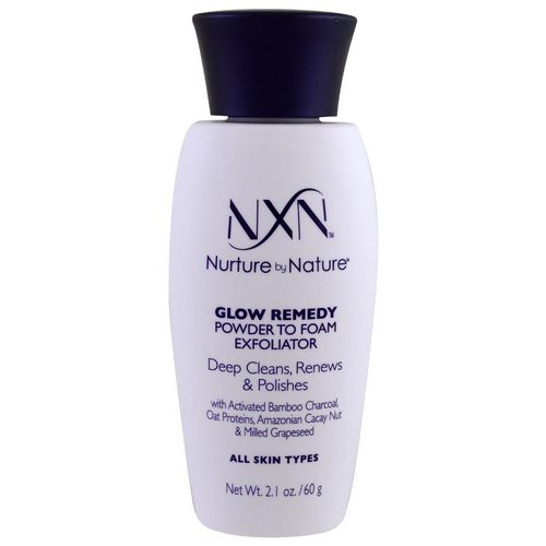 NXN, Nurture by Nature, Glow Remedy, Powder to Foam Exfoliator, All Skin Types, 2.1 oz (60 g) Review