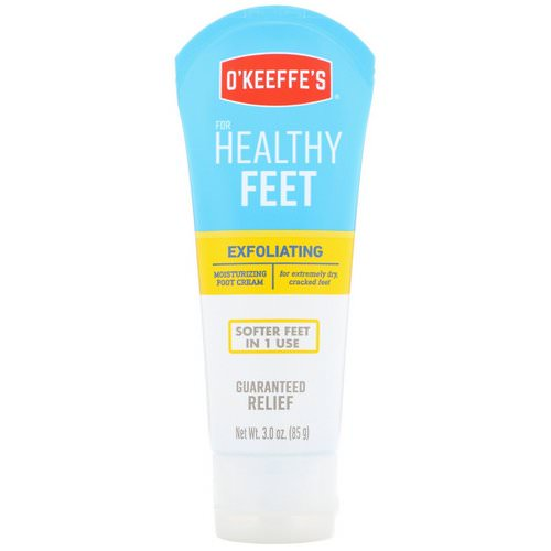 O'Keeffe's, Exfoliating Moisturizing Foot Cream, For Extremely Dry, Cracked Feet, 3 oz (85 g) Review
