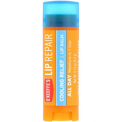 O'Keeffe's, Lip Repair, Cooling Relief, Lip Balm, 0.15 oz (4.2 g) Review