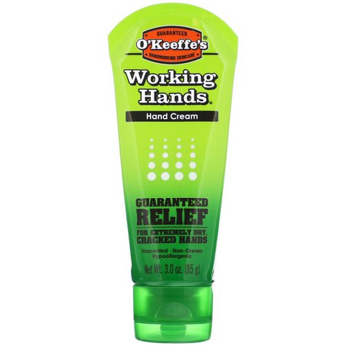O'Keeffe's, Working Hands, Hand Cream, Unscented, 3 oz (85 g) Review