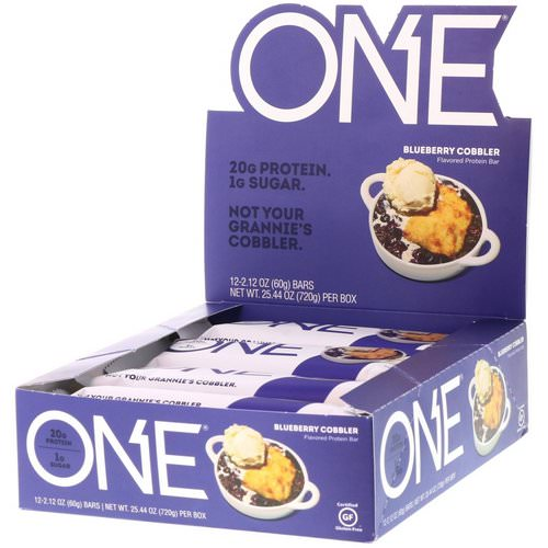One Brands, One Bar, Blueberry Cobbler, 12 Bars, 2.12 oz (60 g) Each Review