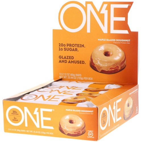 One Brands, One Bar, Maple Glazed Doughnut, 12 Bars, 2.12 oz (60 g) Each Review