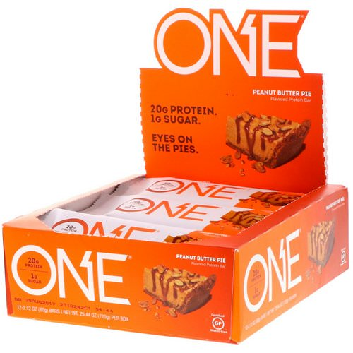 One Brands, One Bar, Peanut Butter Pie Flavor, 12 Bars, 2.12 oz (60 g) Each Review