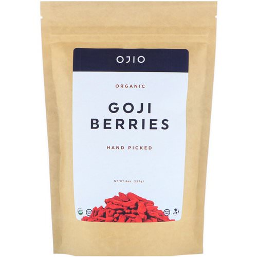 Ojio, Organic Goji Berries, Hand Picked, 8 oz (227 g) Review