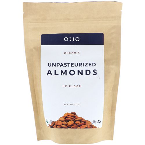 Ojio, Organic Unpasteurized Almonds, 8 oz (227 g) Review