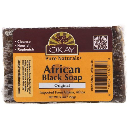 Okay, African Black Soap, Original, 5.5 oz (156 g) Review