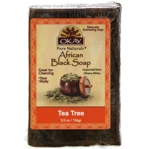 Okay, African Black Soap, Tea Tree, 5.5 oz (156 g) Review