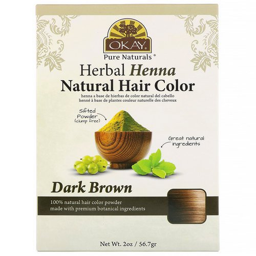 Okay, Herbal Henna Natural Hair Color, Dark Brown, 2 oz (56.7 g) Review