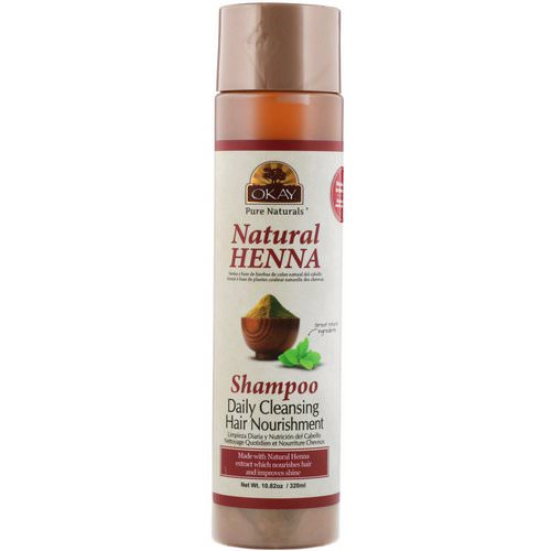 Okay, Natural Henna Shampoo, 10.82 oz (320 ml) Review