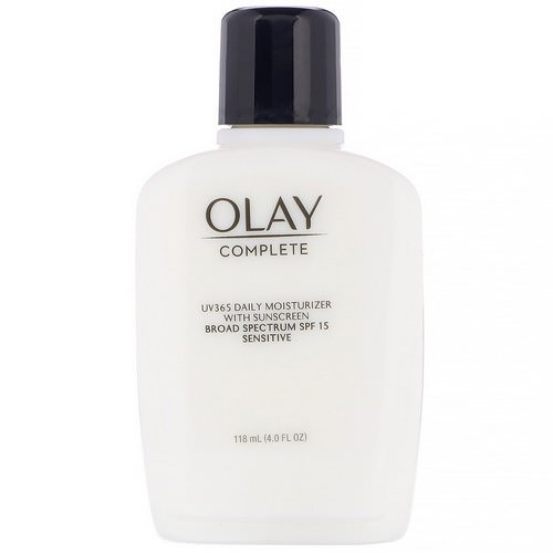 Olay, Complete, UV365 Daily Moisturizer, SPF 15, Sensitive, 4.0 fl oz (118 ml) Review