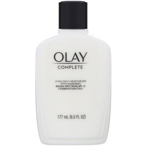 Olay, Complete, UV365 Daily Moisturizer with Sunscreen, SPF 15, Oily, 6 oz (177 ml) Review