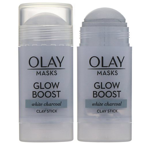 Olay, Masks, Glow Boost, White Charcoal Clay Stick Mask, 1.7 oz (48 g) Review