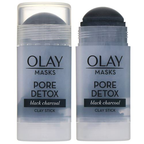 Olay, Masks, Pore Detox, Black Charcoal Clay Stick Mask, 1.7 oz (48 g) Review