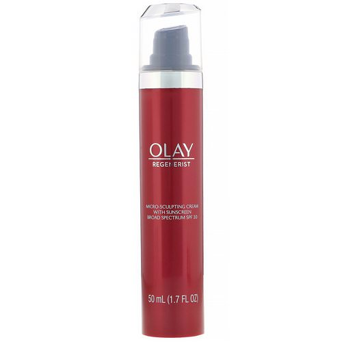 Olay, Regenerist, Micro-Sculpting Cream with Sunscreen, SPF 30, 1.7 fl oz (50 ml) Review