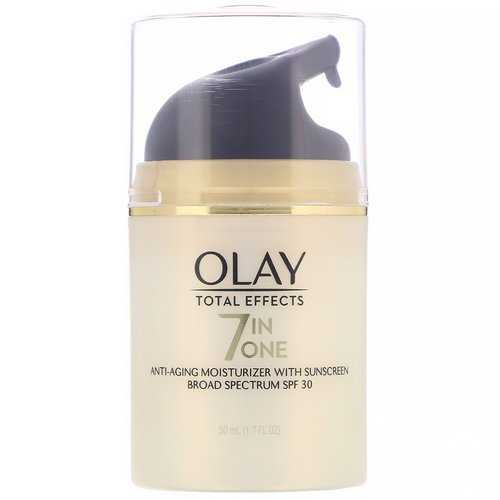 Olay, Total Effects, 7-in-One Anti-Aging Moisturizer with Sunscreen, SPF 30, 1.7 fl oz (50 ml) Review