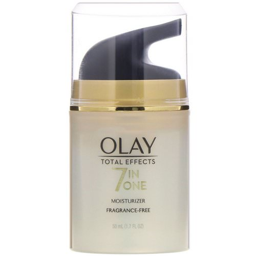 Olay, Total Effects, 7-in-One Moisturizer, Fragrance-Free, 1.7 fl oz (50 ml) Review