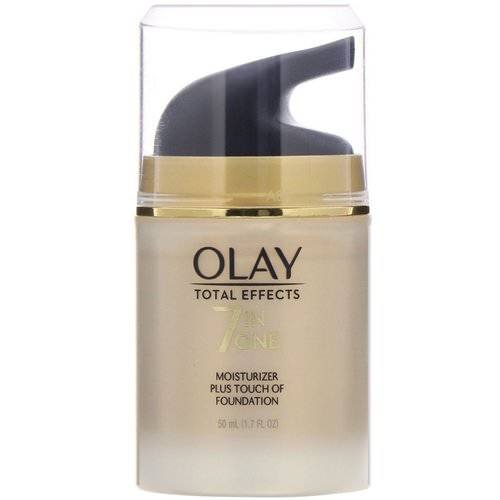 Olay, Total Effects, 7-in-One Moisturizer Plus Touch of Foundation, 1.7 fl oz (50 ml) Review