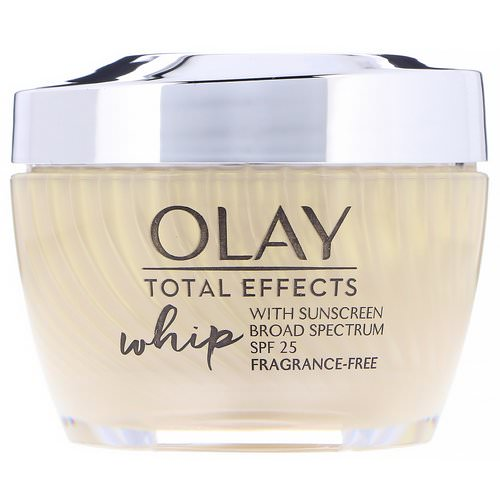 Olay, Total Effects Whip, Active Moisturizer with Sunscreen, SPF 25, Fragrance-Free, 1.7 oz (48 g) Review