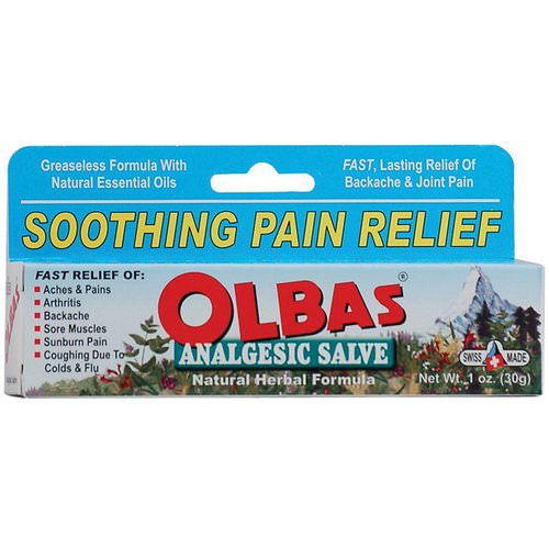 Olbas Therapeutic, Analgesic Salve, Natural Herbal Formula, 1 oz (28 g) Review