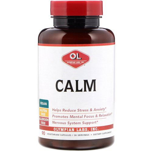Olympian Labs, Calm, 90 Vegetarian Capsules Review