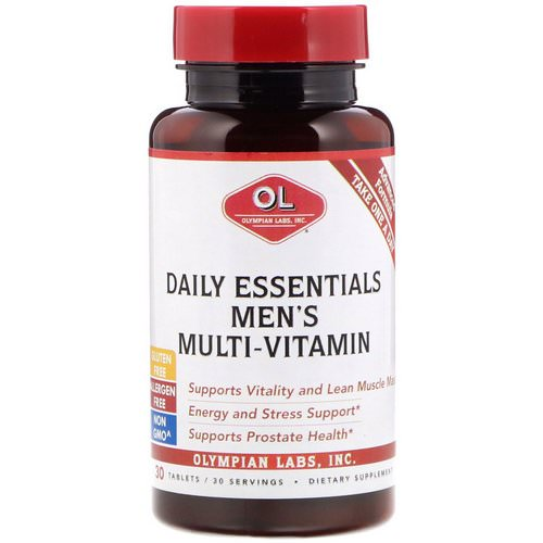Olympian Labs, Daily Essentials Men's Multi-Vitamin, 30 Tablets Review