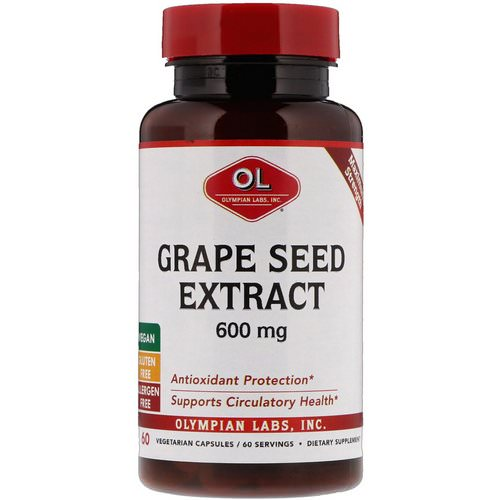 Olympian Labs, Grape Seed Extract, Maximum Strength, 600 mg, 60 Vegetarian Capsules Review
