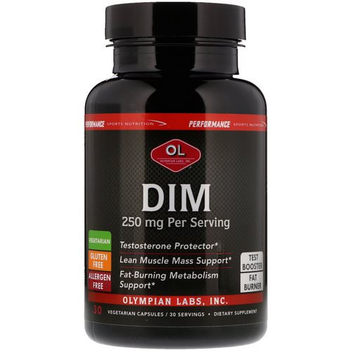 Olympian Labs, Performance Sports Nutrition, DIM, 250 mg, 30 Vegetarian Capsules Review