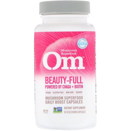Organic Mushroom Nutrition, Beauty-Full, Powered by Chaga + Biotin, 667 mg, 90 Vegetarian Capsules Review
