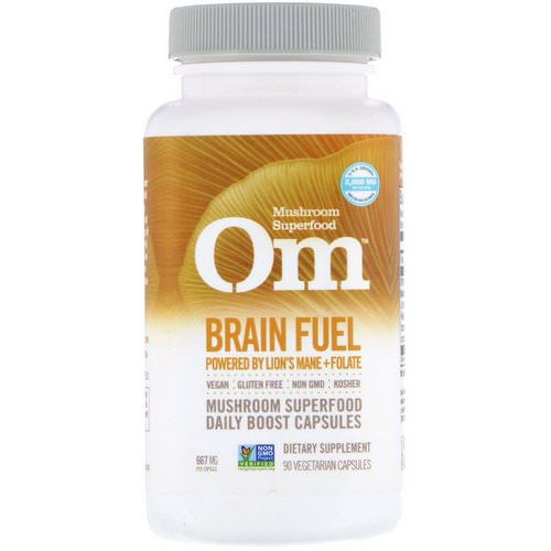 Organic Mushroom Nutrition, Brain Fuel, Powered by Lion's Mane + Folate, 667 mg, 90 Vegetarian Capsules Review