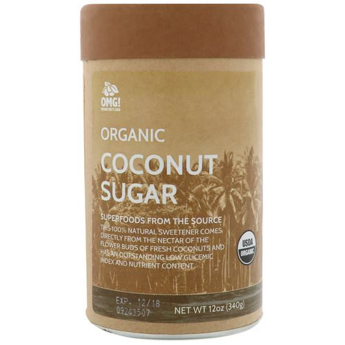 OMG! Organic Meets Good, Organic, Coconut Sugar, 12 oz (340 g) Review