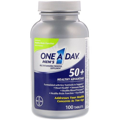 One-A-Day, Men's 50+, Healthy Advantage, Multivitamin/Multimineral Supplement, 100 Tablets Review