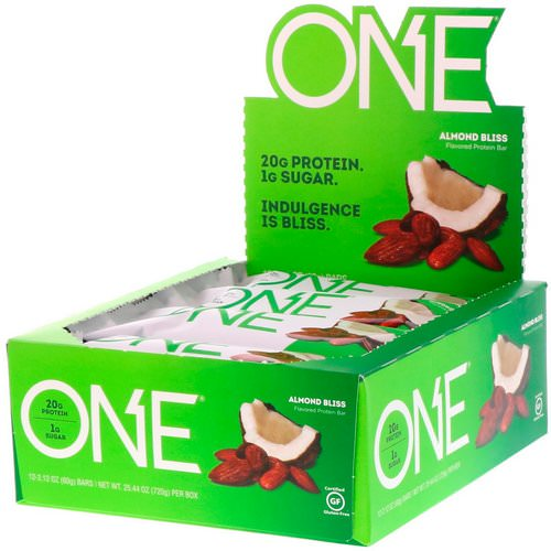 One Brands, One Bar, Almond Bliss, 12 Bars, 2.12 oz (60 g) Each Review